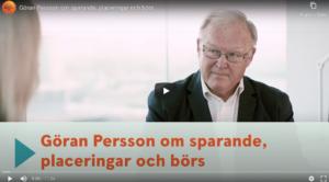 Swedbank – Göran Persson om sparande, placeringar och börs